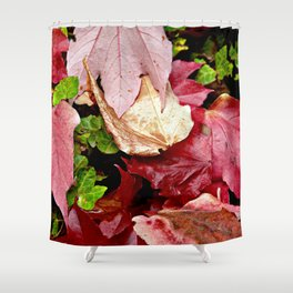 RED AUTUMNAL OCTOBER SPIRIT Shower Curtain