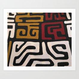 African Mudcloth Print Art Print