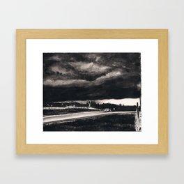 Storm Watching Framed Art Print