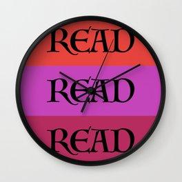 READ READ READ {PURPLE} Wall Clock