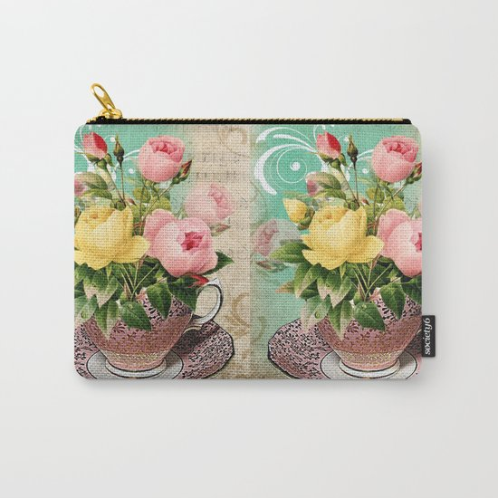 Tea Flowers #2 Carry-All Pouch