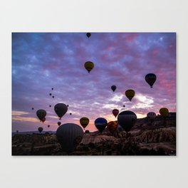 Cappadocia Balloons Flying Canvas Print