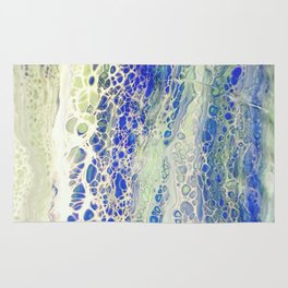 Flowing, Abstract Art, Painting Rug