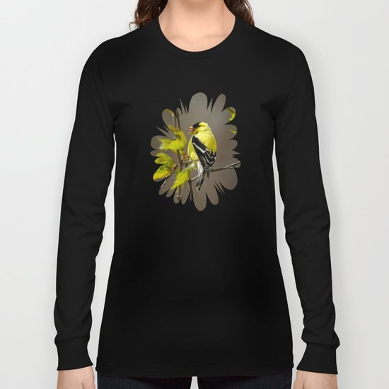 Goldfinch in Song Long Sleeve T-shirt