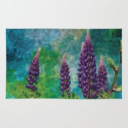 For The Love Of Lupines by annmariescreations Rug