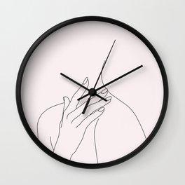Figure line drawing illustration - Danna Natural Wall Clock