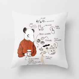 AUTUMN ICONS - colour Throw Pillow