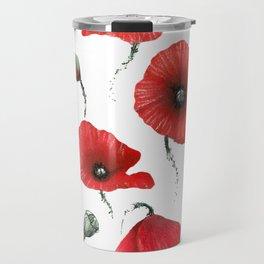 Poppies colored Travel Mug