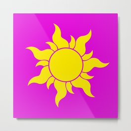 TANGLED SUN SYMBOL Metal Print