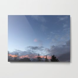 Sunsets and tree-tops Metal Print