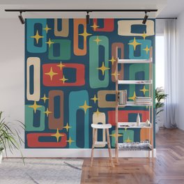 Retro Mid Century Modern Abstract Pattern 221 Wall Mural