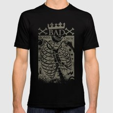 Bad Bones Crew Black Mens Fitted Tee X-LARGE