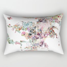 Noumea map Rectangular Pillow
