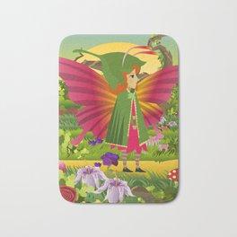 cute colorful butterfly Bath Mat