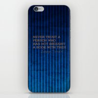 ravenclaw iPhone & iPod Skins featuring Ravenclaw Quote by novillust