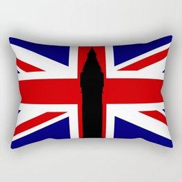 Union Flag Big Ben Rectangular Pillow