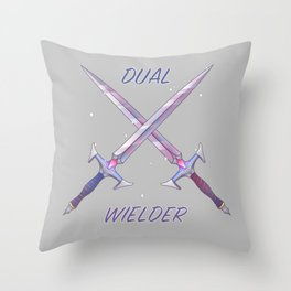 Dual Wielder Throw Pillow