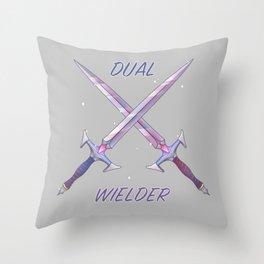 Dual Wielder Throw Pillow