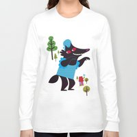 red riding hood Long Sleeve T-shirts featuring little red riding hood by genie espinosa