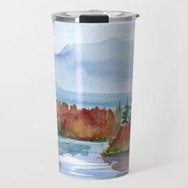 Mirror Lake in Autumn Travel Mug