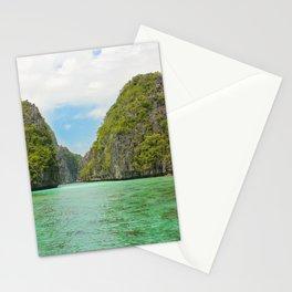 Paradise landscape El Nido Palawan Philippines Stationery Cards