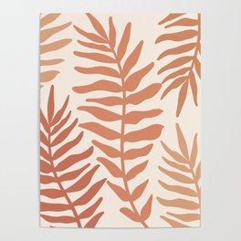 Modern Leaves Poster