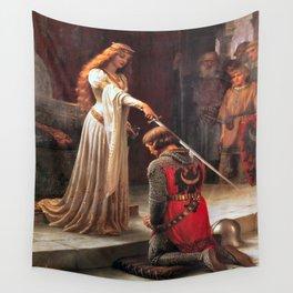 Edmund Blair Leighton Accolade 1901 Wall Tapestry