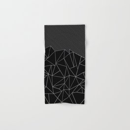 Ab Lines 45 Grey and Black Hand & Bath Towel
