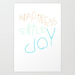HappinessSmileJoy Art Print