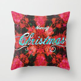 Merry fortress Throw Pillow