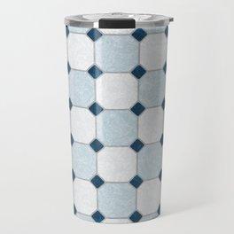 Sky Blue Classic Floor Tile Texture Travel Mug