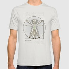 Virtruvian Rick MEDIUM Silver Mens Fitted Tee
