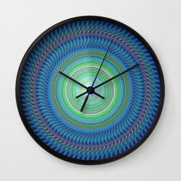 Navy blue round decorative Wall Clock