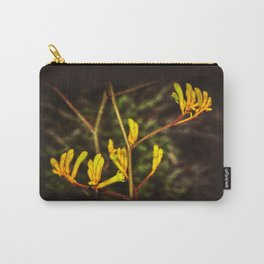 Yellow Kangaroo Paw flower against a blurred background Carry-All Pouch
