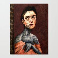 les miserables Canvas Prints featuring Les Miserables- Fantine by Mawhyah