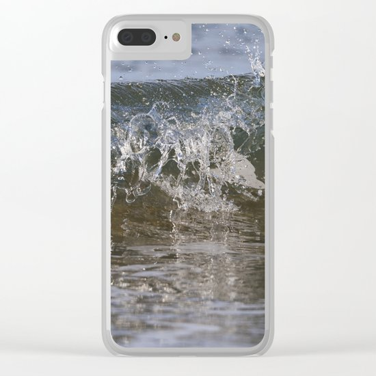 Small wave Clear iPhone Case