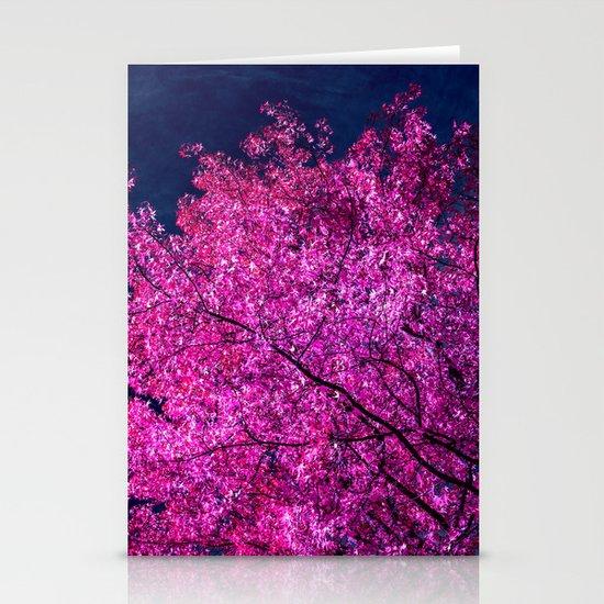 violet tree IV Stationery Cards