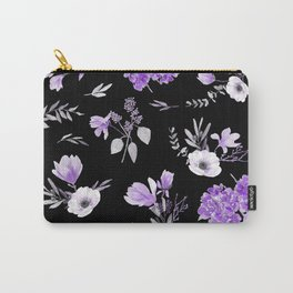 Lavender & Black Pattern Carry-All Pouch