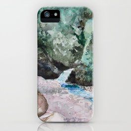Jungle watercolor  iPhone Case