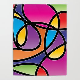 Loops Color 2 Poster