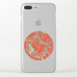 Vienna city map classic Clear iPhone Case