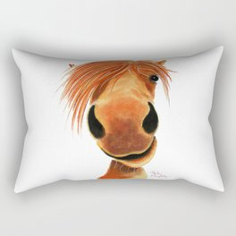 Happy Horse ' GINGER NUT ' by Shirley MacArthur Rectangular Pillow