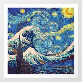 Starry Night (Sun&Water) Art Print