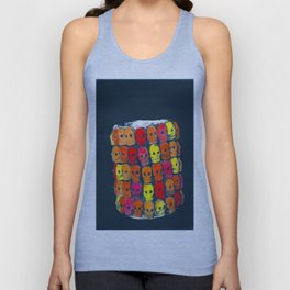 colorful  skulls ceramic vase Unisex Tank Top