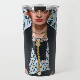 Flowers Frida Kahlo IV Travel Mug