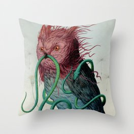 Scarlett Clock Wine Throw Pillow