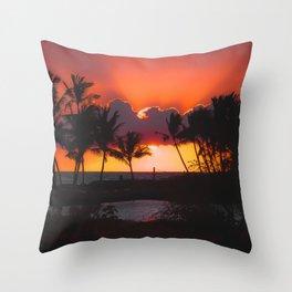 Sunset, Hawaii Throw Pillow