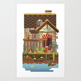 Big World, Little People Art Print