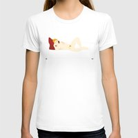 sofa T-shirts featuring Young on sofa by Alfonso Costanza