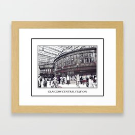 GLASGOW CENTRAL STATION Framed Art Print